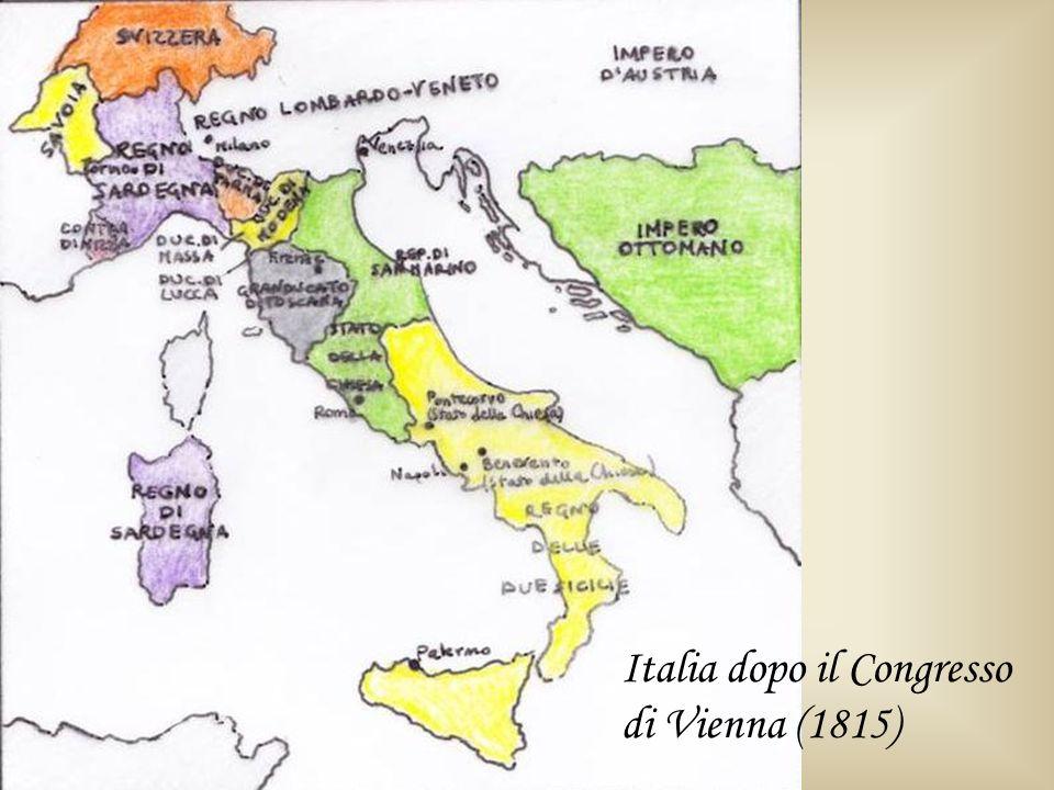 Italia dopo il Congresso di Vienna (1815)