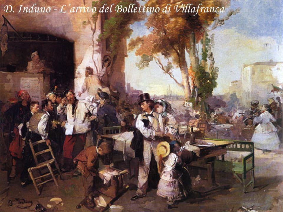 D. Induno - Larrivo del Bollettino di Villafranca