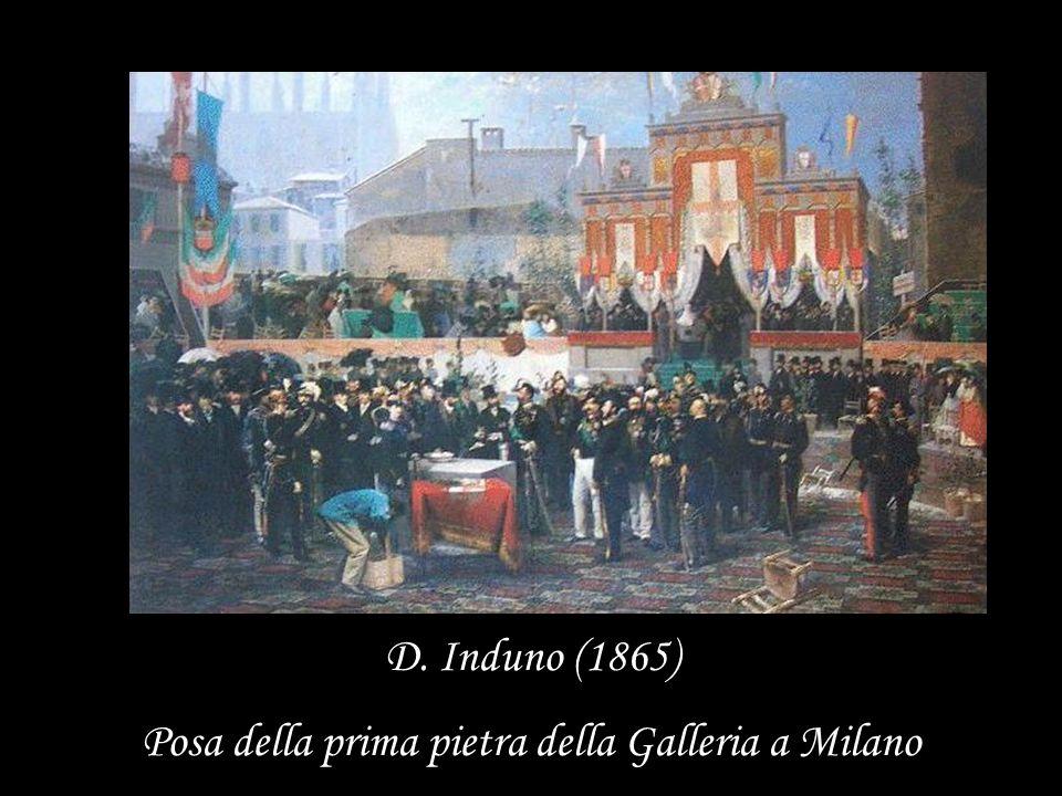D. Induno (1865) Posa della prima pietra della Galleria a Milano