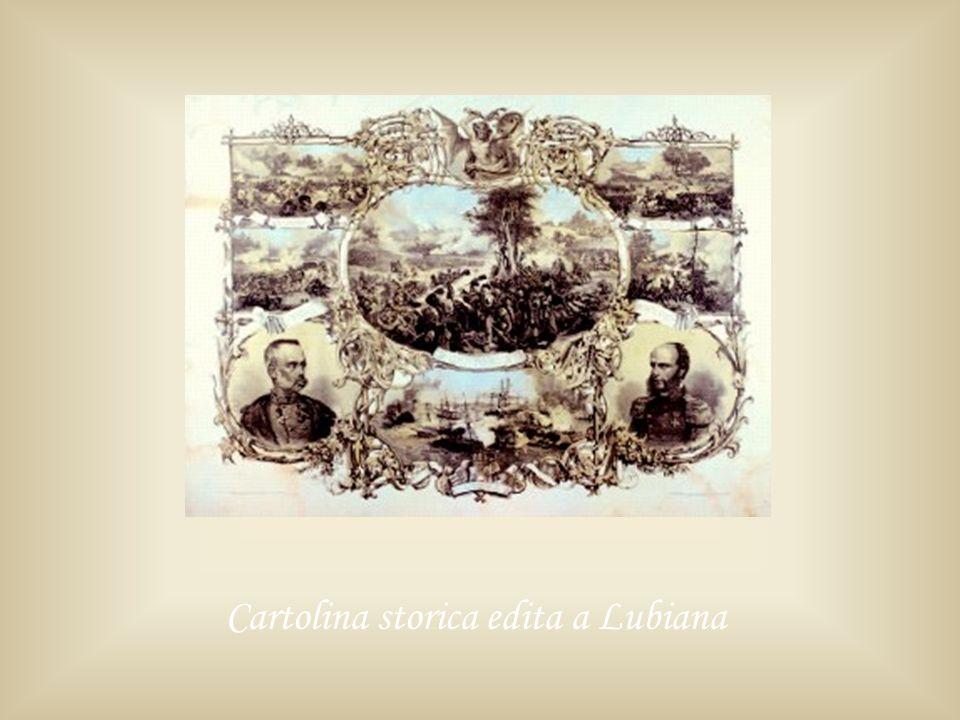 Cartolina storica edita a Lubiana