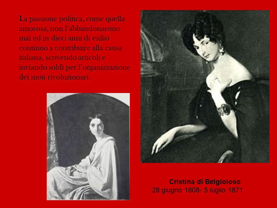La passione politica, come quella amorosa, non labbandonarono mai ed in dieci anni di esilio continuò a contribuire alla causa italiana, scrivendo art