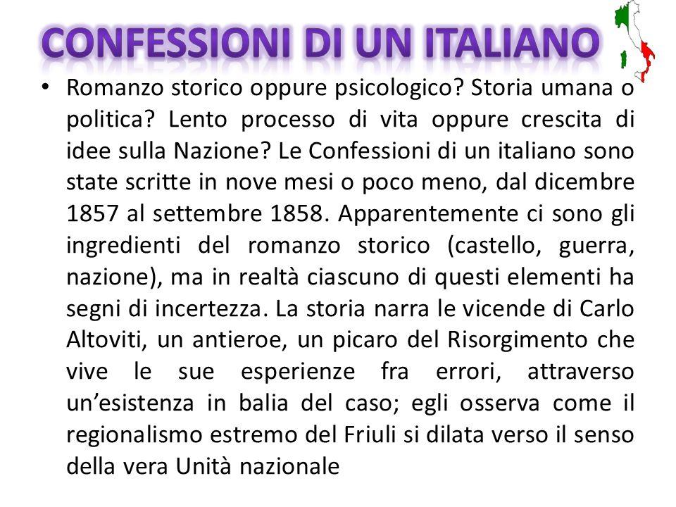 Autore: Ippolito Nievo (1831-1861) Lingua originale: italiano Data di pubblicazione: 1867 con il titolo