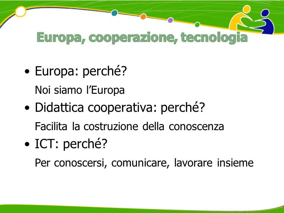 Europa: perché. Noi siamo lEuropa Didattica cooperativa: perché.