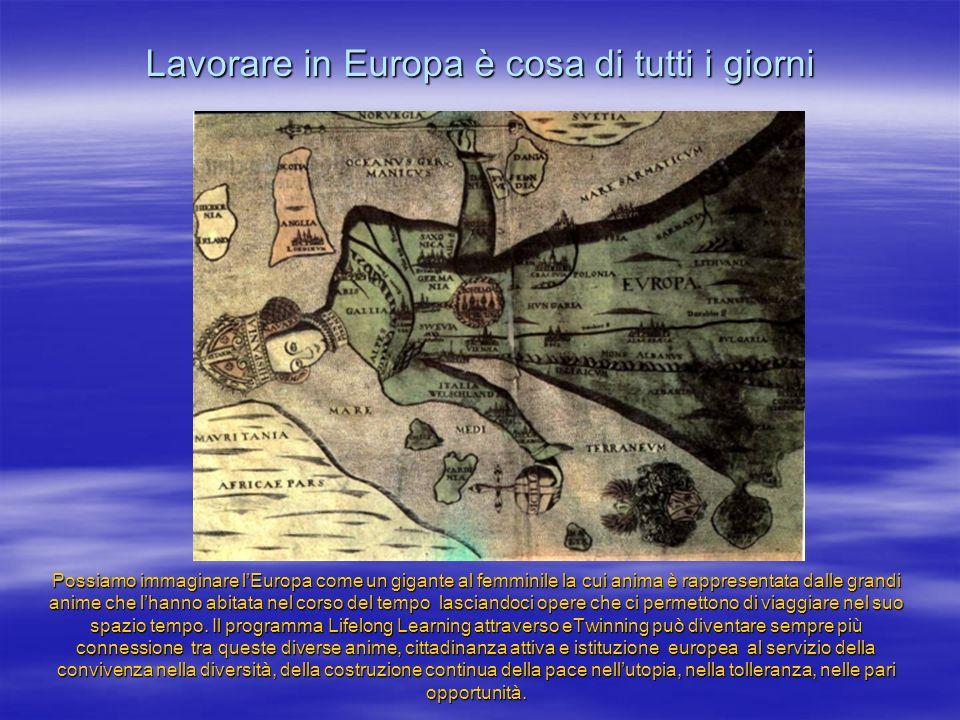 Possiamo immaginare lEuropa come un gigante al femminile la cui anima è rappresentata dalle grandi anime che lhanno abitata nel corso del tempo lasciandoci opere che ci permettono di viaggiare nel suo spazio tempo.