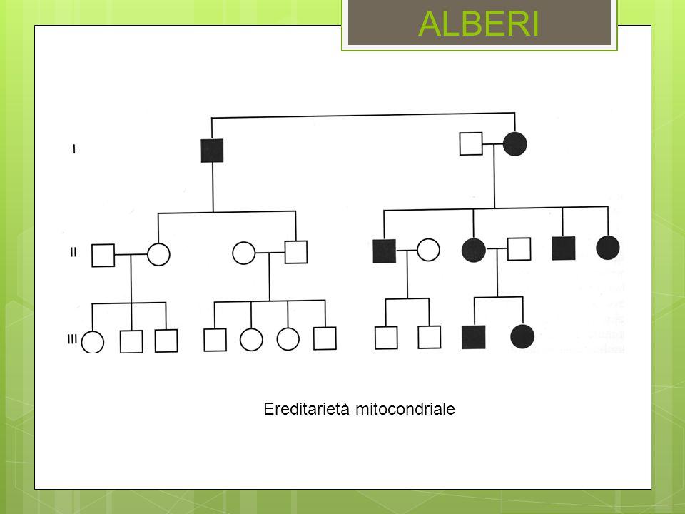 ALBERI Ereditarietà mitocondriale