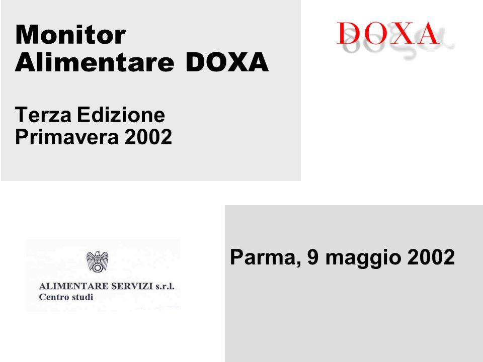 Monitor Alimentare DOXA Terza Edizione Primavera 2002 Parma, 9 maggio 2002