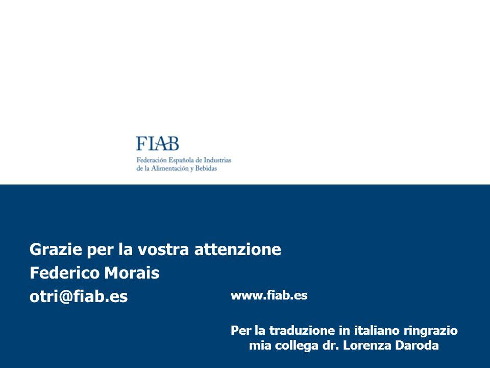 www.fiab.es Per la traduzione in italiano ringrazio mia collega dr. Lorenza Daroda Grazie per la vostra attenzione Federico Morais otri@fiab.es
