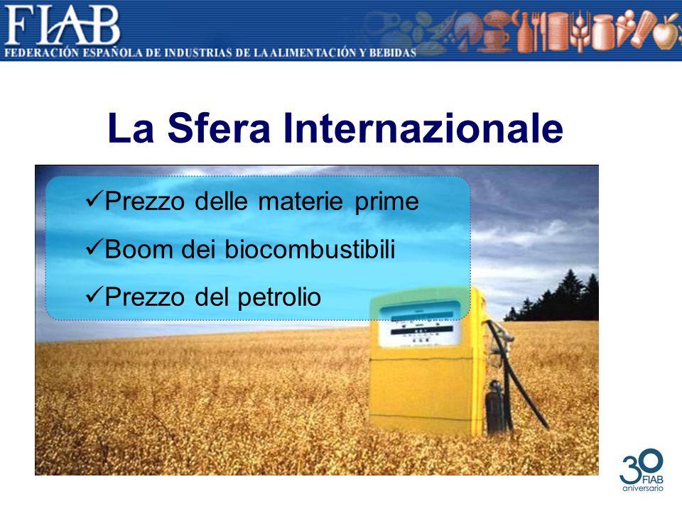 La Sfera Internazionale Prezzo delle materie prime Boom dei biocombustibili Prezzo del petrolio