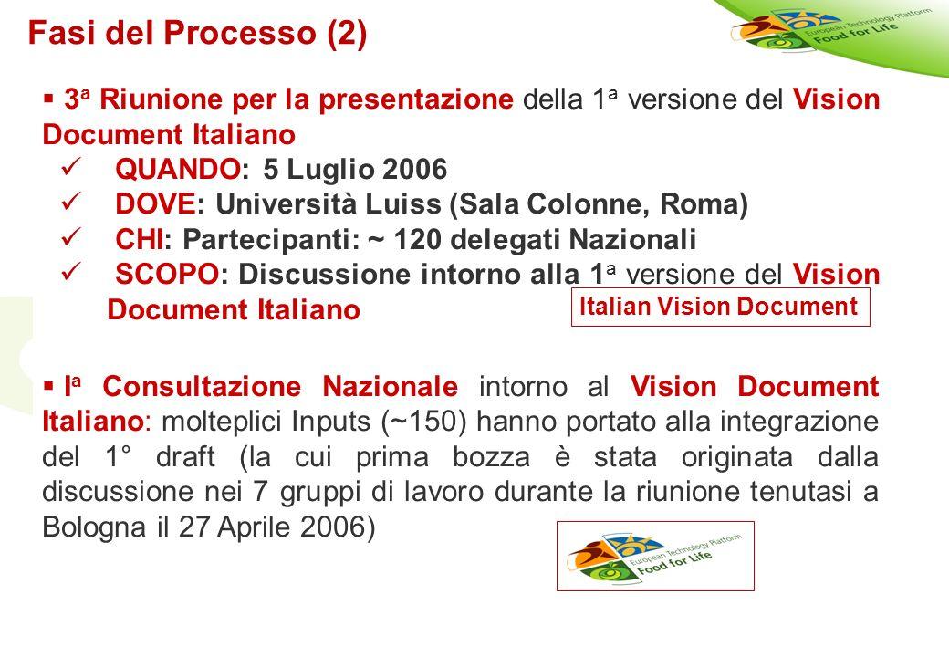 Copyright©2003 - Materiale riservato e strettamente confidenziale 26 3 a Riunione per la presentazione della 1 a versione del Vision Document Italiano