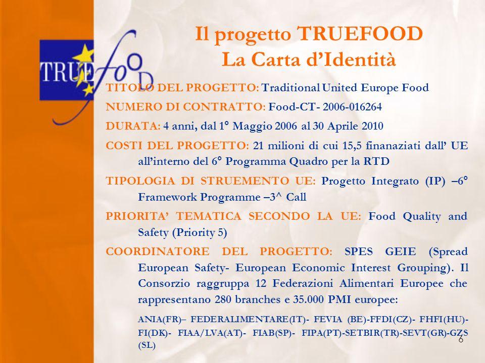 7 TRUEFOOD Partnership 1.SPES GEIE –11 Countries 2.