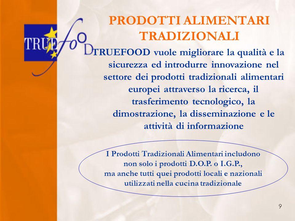 9 PRODOTTI ALIMENTARI TRADIZIONALI I Prodotti Tradizionali Alimentari includono non solo i prodotti D.O.P.