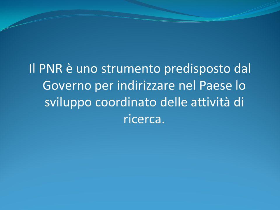 OBIETTIVO Lobiettivo è di realizzare un coordinamento nazionale degli interventi (POLITICHE DI SISTEMA COORDINATE).