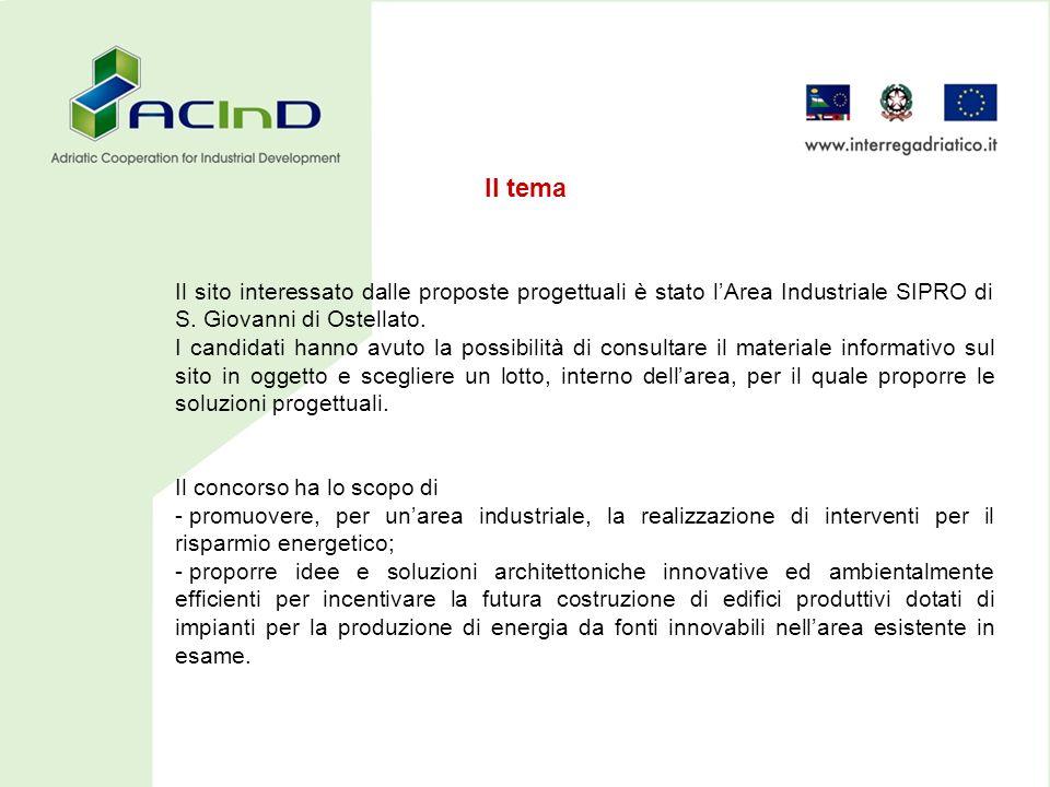 Il sito interessato dalle proposte progettuali è stato lArea Industriale SIPRO di S.