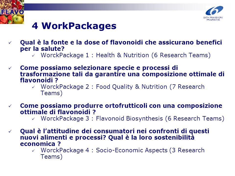 4 WorkPackages Qual è la fonte e la dose of flavonoidi che assicurano benefici per la salute.