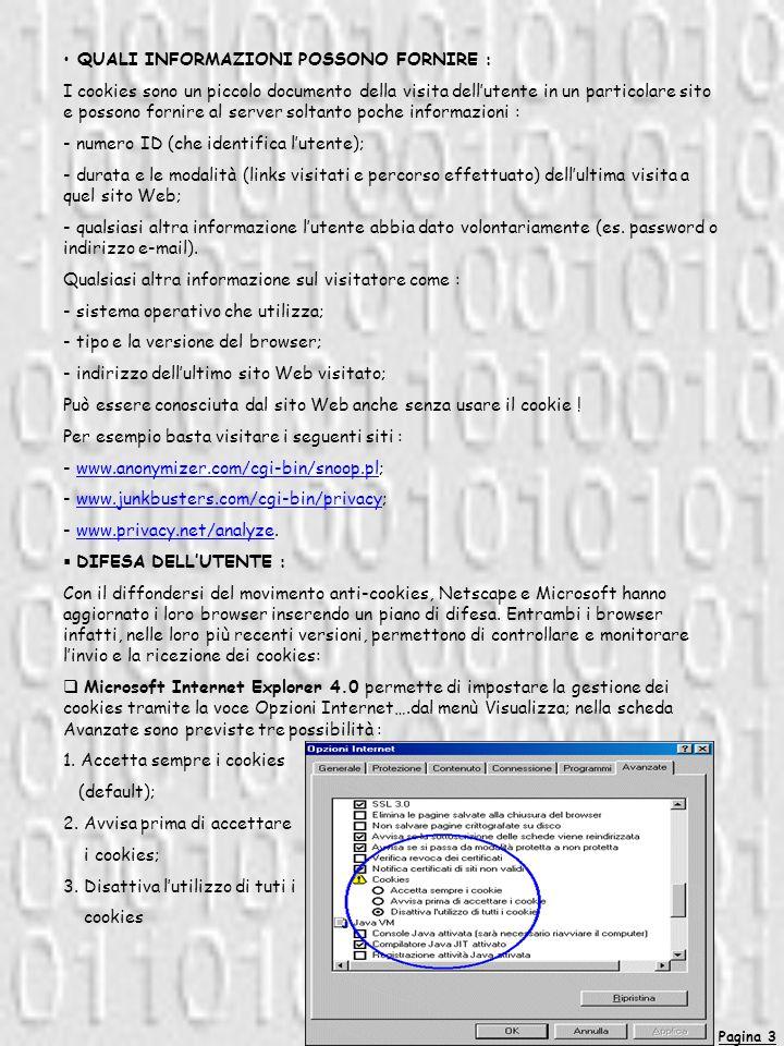 Pagina 4 Netscape Navigator 4.0 permette di effettuare le analoghe impostazioni tramite la voce Preferenze….