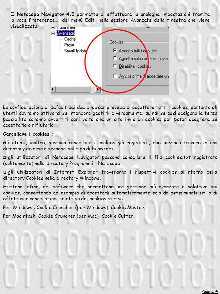 Pagina 15 G3.5 Come proteggersi: I backup devono essere effettuati con cadenza almeno settimanale.