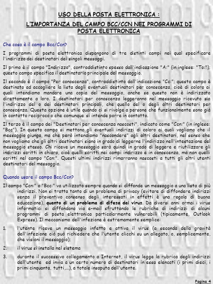 Pagina 4 Che cosa è il campo Bcc/Ccn.
