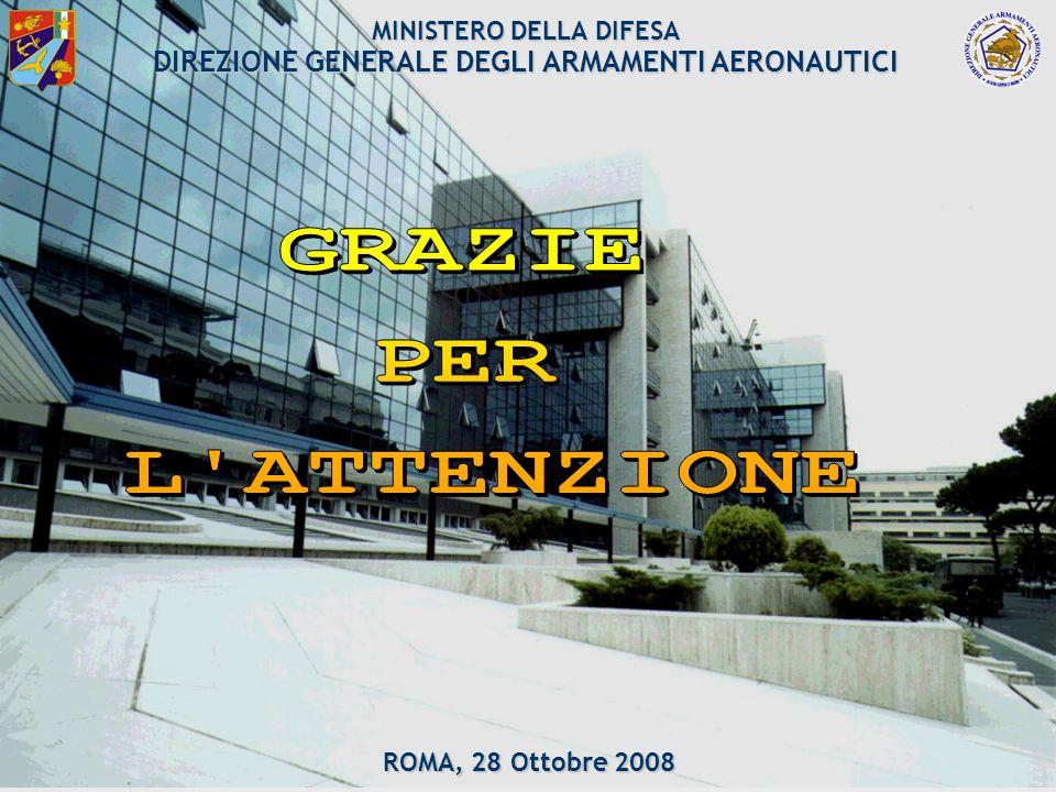 DGAA 61/61 MINISTERO DELLA DIFESA DIREZIONE GENERALE DEGLI ARMAMENTI AERONAUTICI ROMA, 28 Ottobre 2008