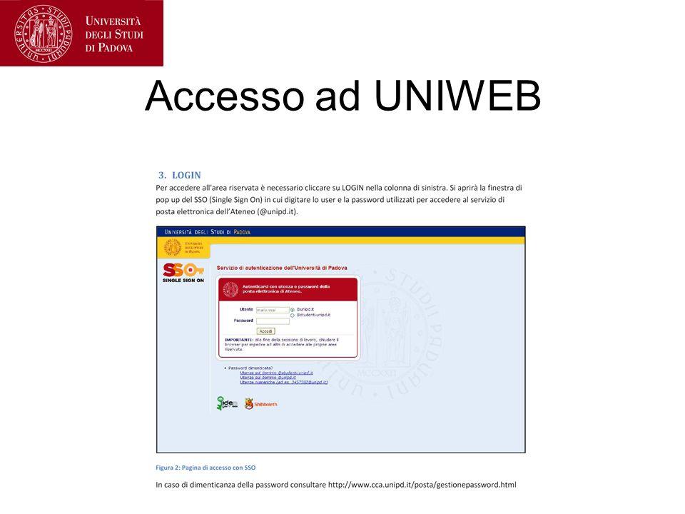 Accesso ad UNIWEB
