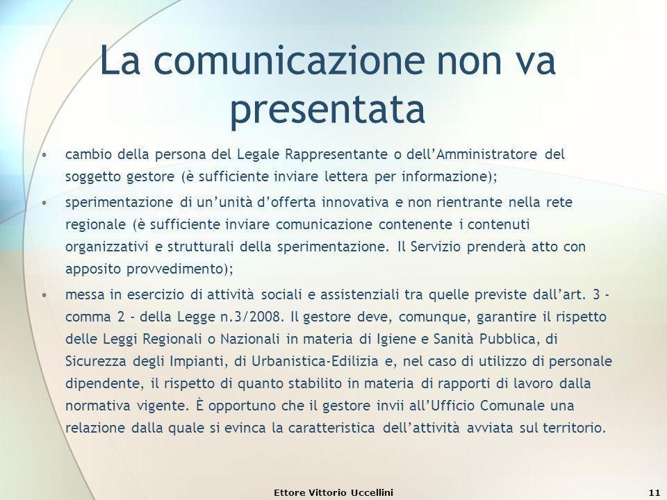 La comunicazione non va presentata cambio della persona del Legale Rappresentante o dellAmministratore del soggetto gestore (è sufficiente inviare let