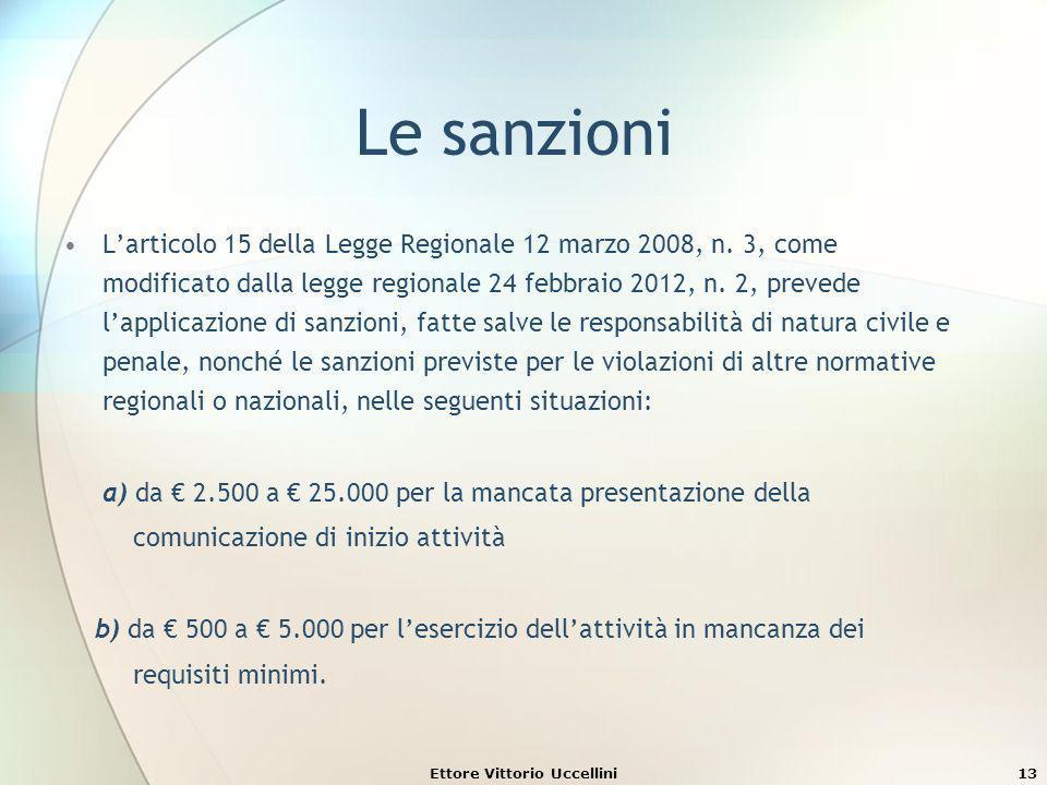 Le sanzioni Larticolo 15 della Legge Regionale 12 marzo 2008, n. 3, come modificato dalla legge regionale 24 febbraio 2012, n. 2, prevede lapplicazion