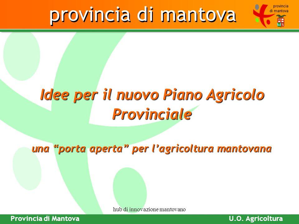 PROVINCIA DI MANTOVA Piano Attività Produttive Hub di innovazione mantovano Provincia di Mantova Fare clic per modificare gli stili del testo dello sc