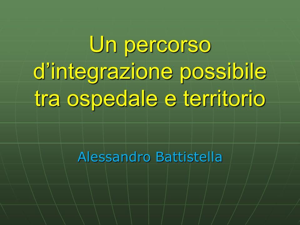 Un percorso dintegrazione possibile tra ospedale e territorio Alessandro Battistella