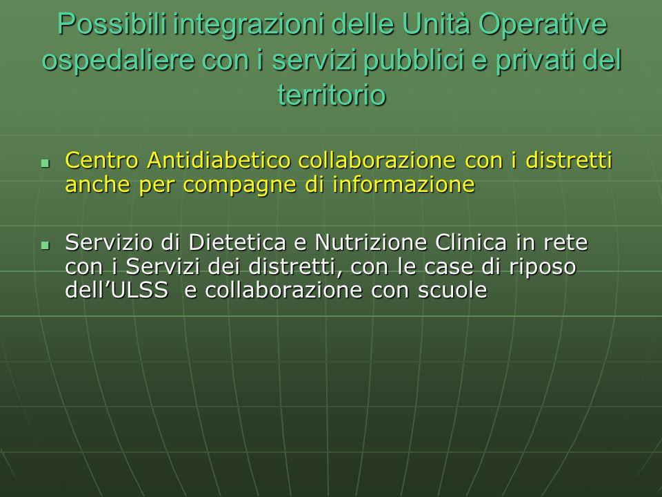 Centro Antidiabetico collaborazione con i distretti anche per compagne di informazione Centro Antidiabetico collaborazione con i distretti anche per c