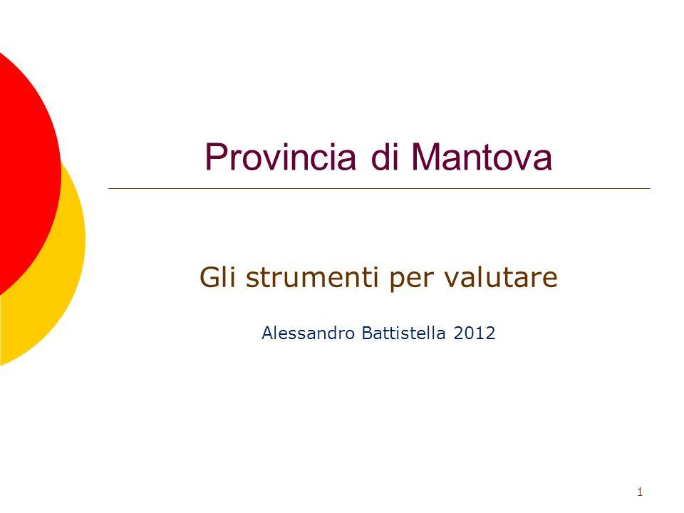Provincia di Mantova Gli strumenti per valutare Alessandro Battistella 2012 1