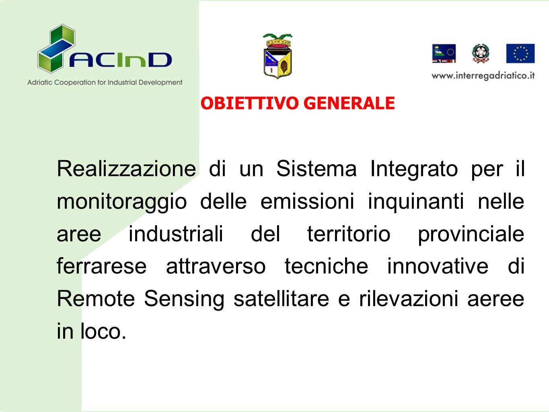 OBIETTIVO GENERALE Realizzazione di un Sistema Integrato per il monitoraggio delle emissioni inquinanti nelle aree industriali del territorio provinci