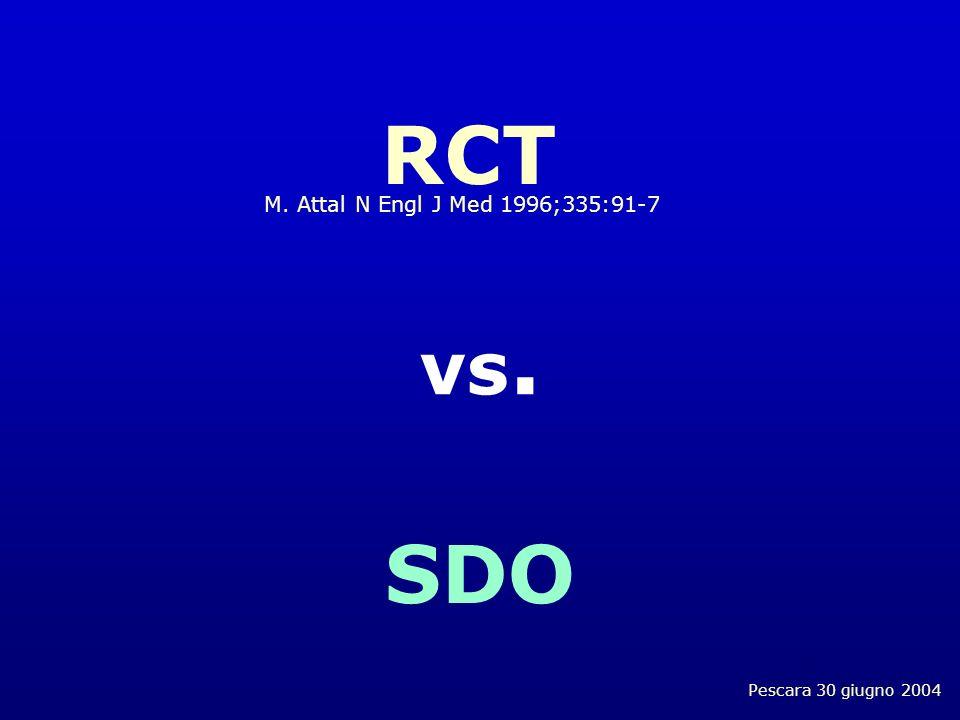 Pescara 30 giugno 2004 RCT M. Attal N Engl J Med 1996;335:91-7 vs. SDO