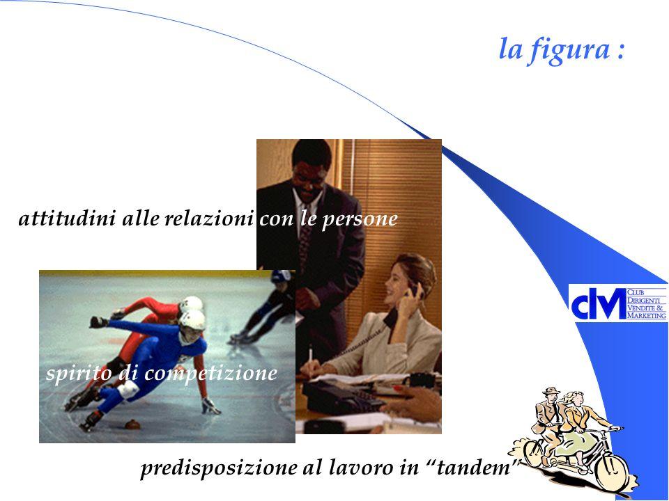 la figura : predisposizione al lavoro in tandem spirito di competizione attitudini alle relazioni con le persone