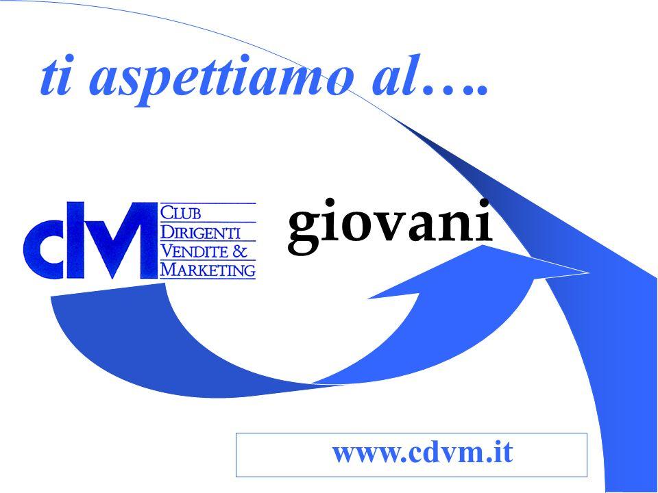 ti aspettiamo al…. www.cdvm.it giovani