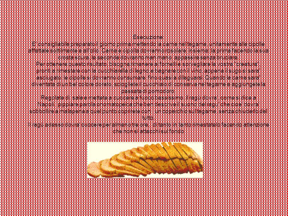Esecuzione: E' consigliabile preparato il giorno prima mettendo la carne nel tegame, unitamente alle cipolle affettate sottilmente e all'olio. Carne e