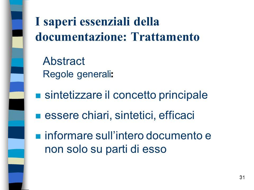 31 Abstract Regole generali : n sintetizzare il concetto principale n essere chiari, sintetici, efficaci n informare sullintero documento e non solo s