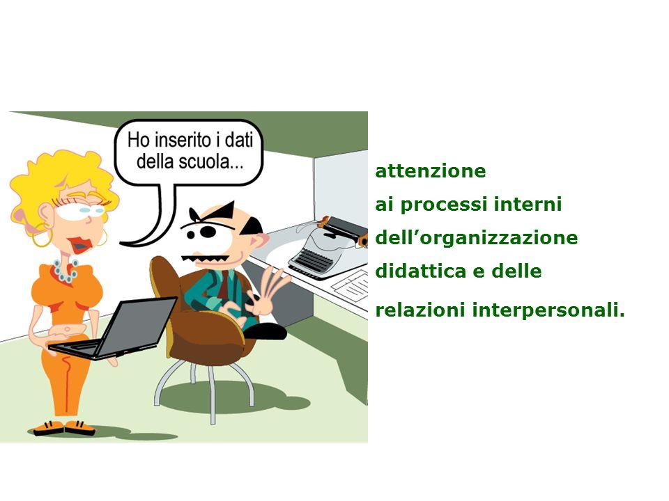 attenzione ai processi interni dellorganizzazione didattica e delle relazioni interpersonali.