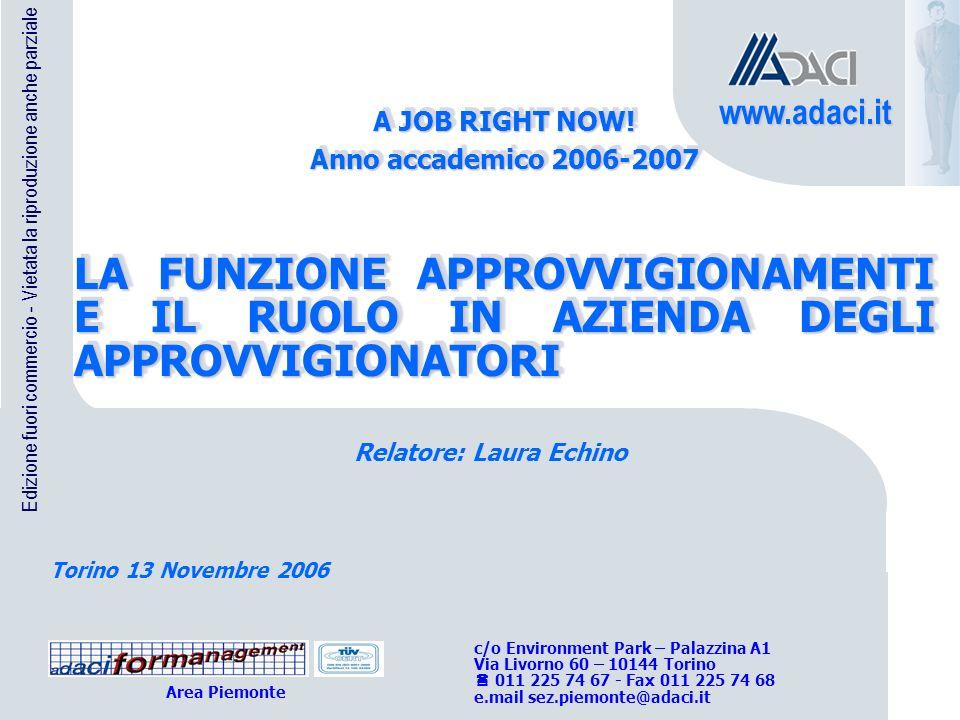 11 Vietata la riproduzione - Versione 1.0.2006 PROCESSO di APPROVVIGIONAMENTO MKT DI APPROVV.