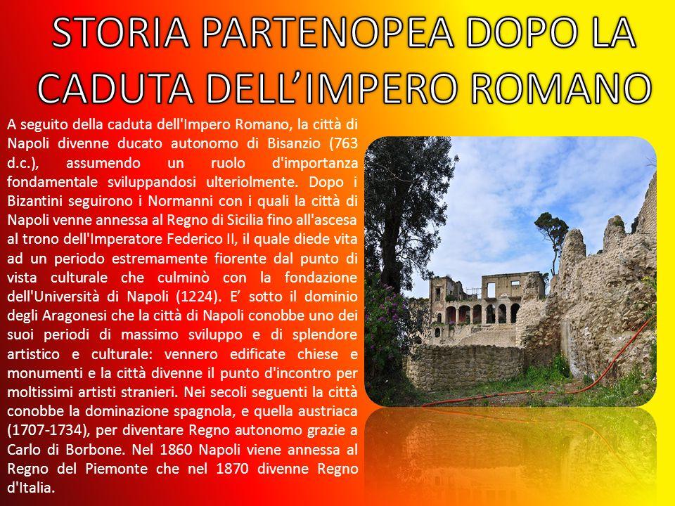 A seguito della caduta dell'Impero Romano, la città di Napoli divenne ducato autonomo di Bisanzio (763 d.c.), assumendo un ruolo d'importanza fondamen