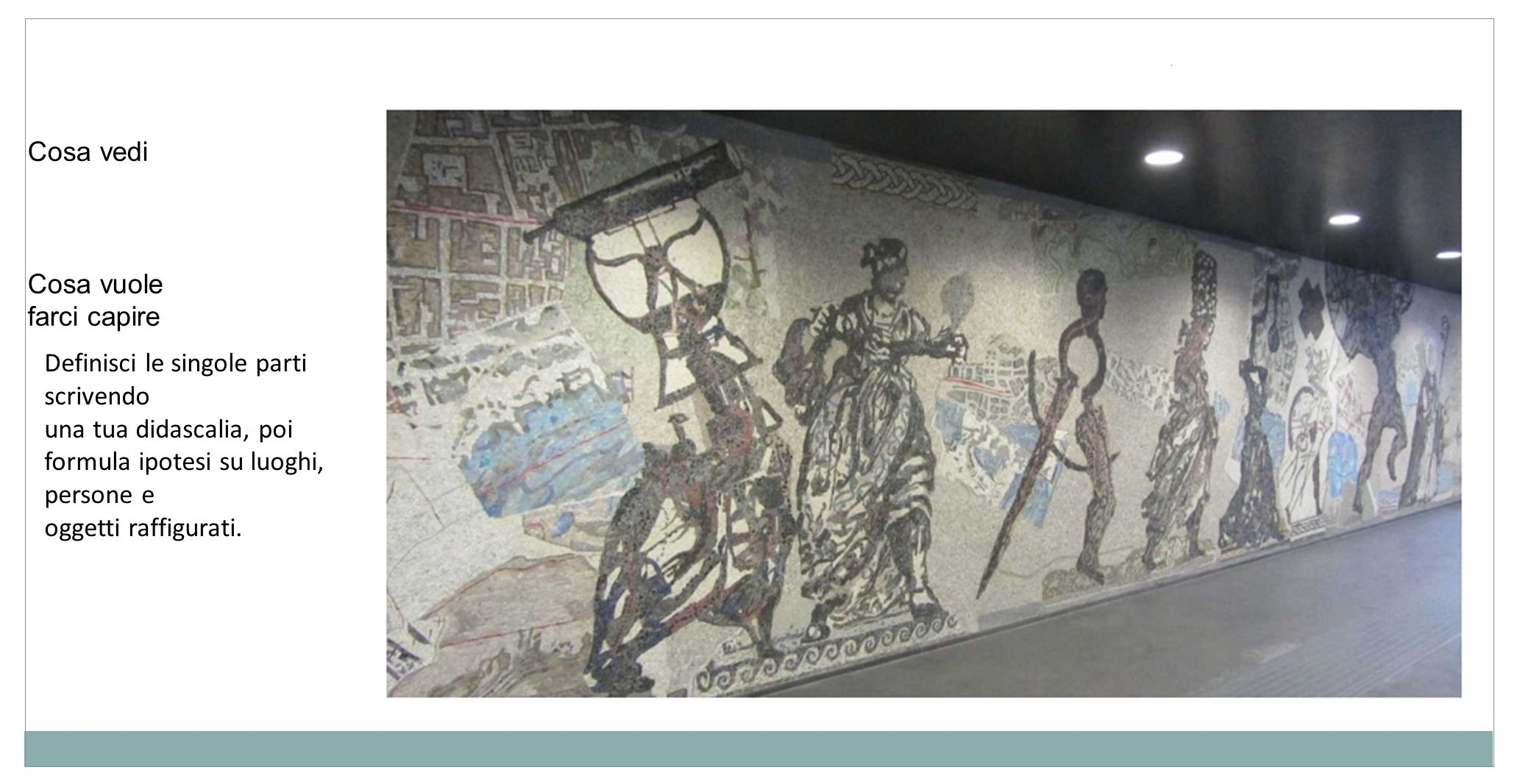 La tua città riprendendo il pensiero dellarchitetto che ha illustrato delle immagini di Napoli Cosa vedi: Cosa vuole farci capire: