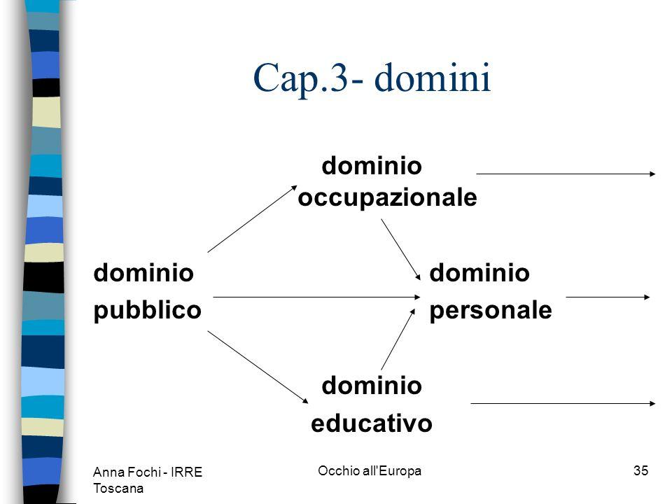 Anna Fochi - IRRE Toscana Occhio all Europa34 Cap.3- attività linguistiche Ricezione interazione mediazione produzione