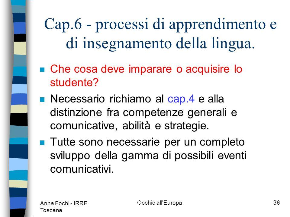 Anna Fochi - IRRE Toscana Occhio all Europa35 Cap.3- domini dominio occupazionaledominio pubblicopersonale dominio educativo