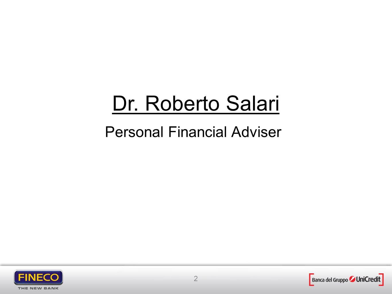 2 Personal Financial Adviser Dr. Roberto Salari