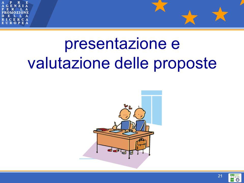 21 presentazione e valutazione delle proposte