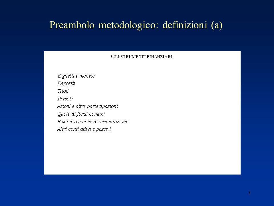 3 Preambolo metodologico: definizioni (a)