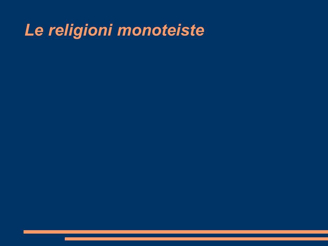 Le religioni monoteiste