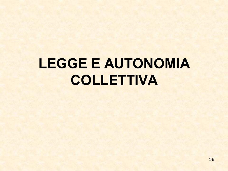 36 LEGGE E AUTONOMIA COLLETTIVA