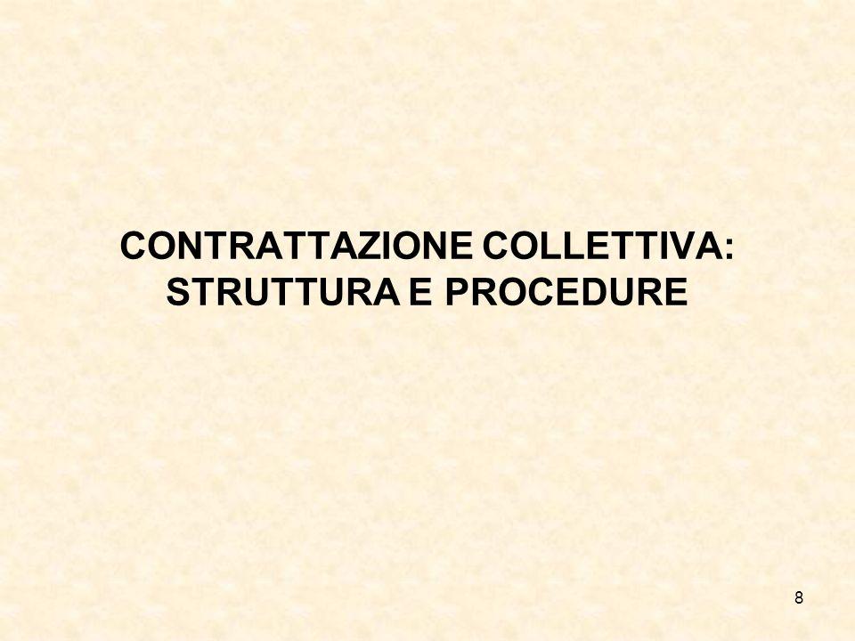 8 CONTRATTAZIONE COLLETTIVA: STRUTTURA E PROCEDURE