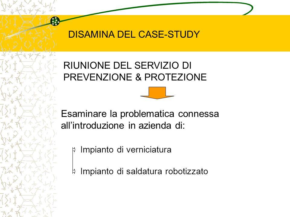 RIUNIONE DEL SERVIZIO DI PREVENZIONE & PROTEZIONE Esaminare la problematica connessa allintroduzione in azienda di: Impianto di verniciatura Impianto