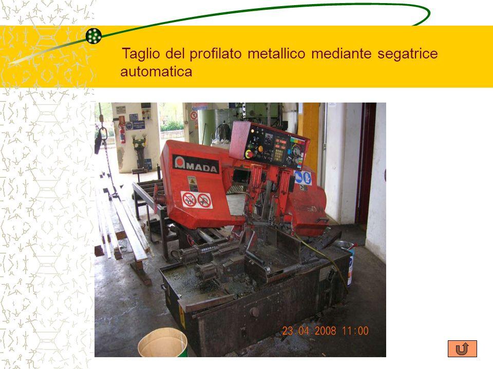 Taglio del profilato metallico mediante segatrice automatica