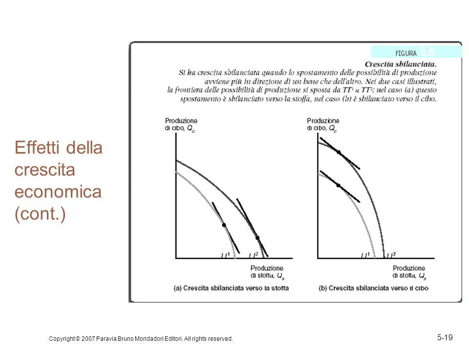 Copyright © 2007 Paravia Bruno Mondadori Editori. All rights reserved. 5-19 Effetti della crescita economica (cont.)